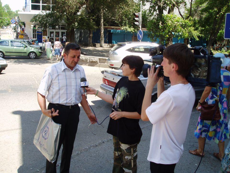 Интервью Астраханскому телевидению